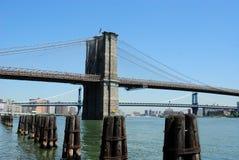 Jour de passerelle de Brooklyn photos libres de droits