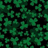 Jour de Patricks de saint Oxalide petite oseille noir de fond illustration de vecteur