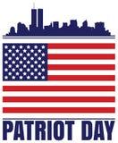 Jour de patriote illustration de vecteur