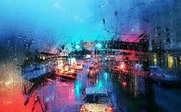 Jour de pluie à Udine Photographie stock