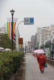 Jour de pluie (京都- Japon) 图库摄影