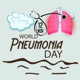 Jour de pneumonie du monde illustration libre de droits