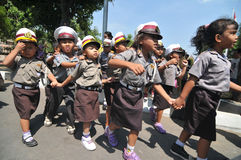 Jour de police en Indonésie Photographie stock