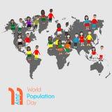 Jour de population mondiale le 11 juillet illustration de vecteur
