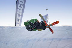 Jour de pratique en matière de Ski World Cup de style libre pendant le grand air Milan Photographie stock libre de droits