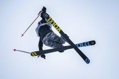 Jour de pratique en matière de Ski World Cup de style libre pendant le grand air Milan Photos libres de droits