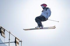 Jour de pratique en matière de Ski World Cup de style libre pendant le grand air Milan Images libres de droits