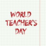 Jour de ` de professeurs du monde Photographie stock