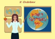 Jour de ` de professeurs du monde Photographie stock libre de droits