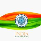Jour de République de conception de vecteur d'Inde Photos stock