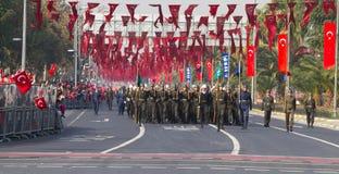 Jour de République des célébrations de la Turquie Photographie stock libre de droits