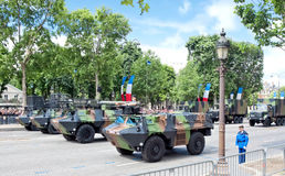 Jour de République sur des champions Elysees à Paris Image libre de droits