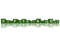 Jour de rue Patrick en cubes 3d Images stock