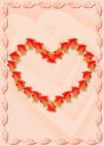 Jour de rue Valentine de carte postale Images stock