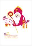 Jour de Saint-Nicolas. Homme illustration stock