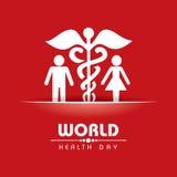 Jour de santé du monde Images stock