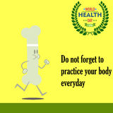 Jour de santé du monde 04 Images stock