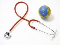 Jour de santé du monde de concept, stéthoscope rouge photographie stock