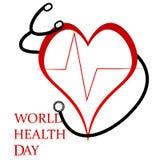 Jour de santé du monde illustration stock