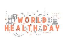 Jour de santé du monde de concept de médecine illustration libre de droits
