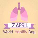 Jour de santé du monde de poumons 7 April Banner Images stock