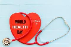 Jour de santé du monde, le 7 avril, soins de santé et concept médical Images stock
