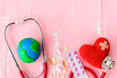 Jour de santé du monde, soins de santé et concept médical Photos stock