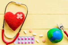Jour de santé du monde, soins de santé et concept médical Image stock