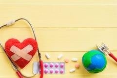 Jour de santé du monde, soins de santé et concept médical Images libres de droits
