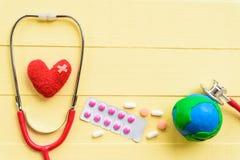 Jour de santé du monde, soins de santé et concept médical Photographie stock libre de droits