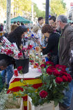Jour de Sant Jordi en Catalogne Photos stock