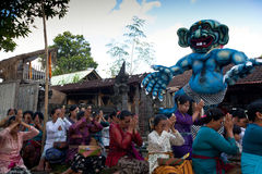 Jour de silence sur Bali. Photos libres de droits