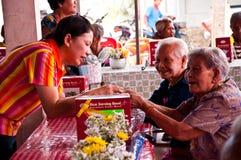 Jour de Songkran images libres de droits