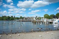 Jour de source au lac Windermere Photographie stock