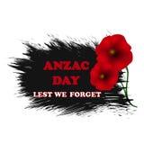 Jour de souvenir, Anzac Day, fond de jour de vétérans avec des pavots De peur que nous oubliions Photographie stock libre de droits