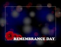 Jour de souvenir, Anzac Day, fond de jour de vétérans avec des pavots De peur que nous oubliions Photos libres de droits
