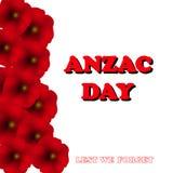 Jour de souvenir, Anzac Day, fond de jour de vétérans avec des pavots De peur que nous oubliions Photo libre de droits