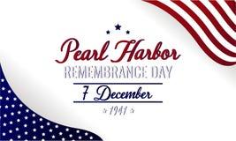 Jour de souvenir de Pearl Harbor image libre de droits