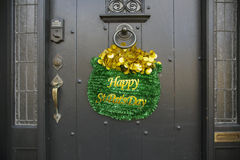 Jour de St Pat heureux, défilé du jour de St Patrick, 2014, Boston du sud, le Massachusetts, Etats-Unis Images stock