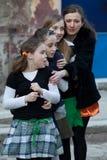 Jour de St Patrick s à Bucarest Photos libres de droits