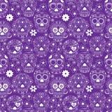 Jour de Sugar Skull Seamless Vector Background mort Image libre de droits
