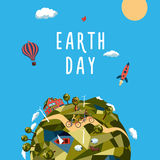 Jour de terre Concept d'environnement et d'écologie Images libres de droits
