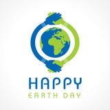 Jour de terre heureux Photographie stock libre de droits