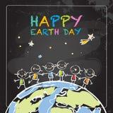 Jour de terre heureux Photos libres de droits