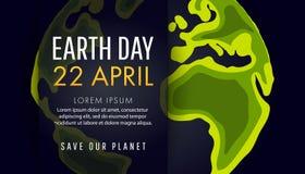 Jour de terre Sauf le concept de la terre Photographie stock libre de droits
