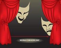 Jour de théâtre du monde Images libres de droits