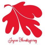 Jour de thanksgiving de Canada avec une feuille d'érable rouge simple illustration libre de droits