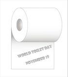 Jour de toilette du monde, le 19 novembre Image libre de droits