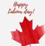 Jour de travail heureux de Canada illustration stock