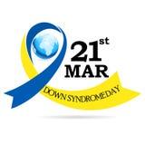 Jour de trisomie 21 du monde photographie stock libre de droits